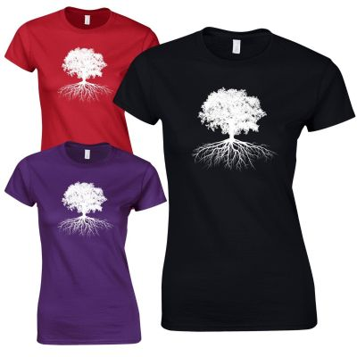 Tree of Life Ladies Fitted T-Shirt - Pagan Celtic Wicca Druid Womens Gift Top